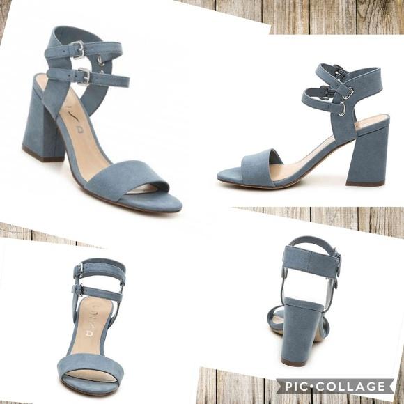 Unisa Ankle Strap Block Heel Sandals